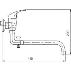 NOVASERVIS - Vaňová paneláková batéria 150 mm Metalia 55 chróm 55136,0