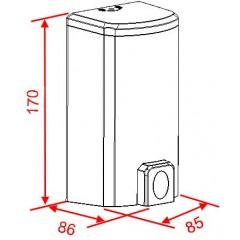 NOVASERVIS - Zásobník na tekuté mydlo 500 ml, biely 69086,P