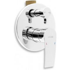 NOVASERVIS - Vaňová a sprchová podomietková batéria s prepínačom 40050R,0