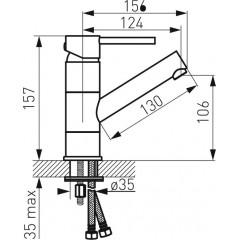 NOVASERVIS - Umývadlová stojanková batéria vysoká, chróm BFI2A