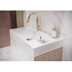 CERSANIT - Nábytkové umývadlo INVERTO 80 s odkladacou plochou vľavo K671-016