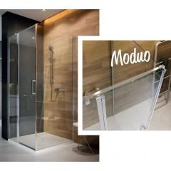 CERSANIT - Kyvné dvere s pevným poľom MODUO 90x195, ľavé, číre sklo S162-005
