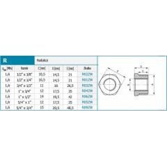 """NOVASERVIS - Redukce 1/2"""" x 1/4"""" R01ZW"""