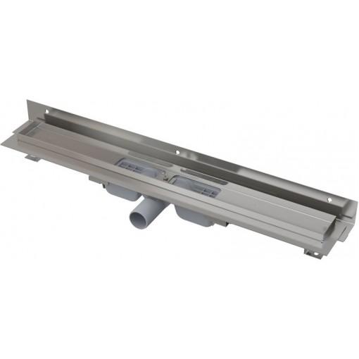 Alcaplast APZ104-1050-LOW podlahový žlab ke zdi v.55mm SNÍŽENÝ min. 1100mm kout (APZ104-1050)