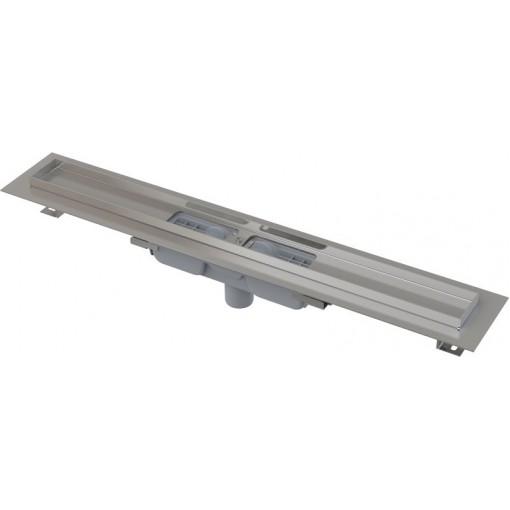 Alcaplast APZ1101-550-LOW podlahový žlab v.55mm SNÍŽENÝ svislý odtok kout min. 600mm (APZ1101-550)