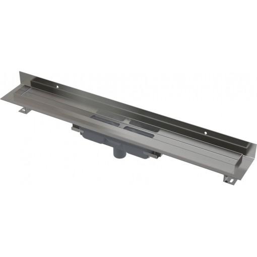 Alcaplast APZ1116-850 LOW Podlahový žlab s okrajem pro plný rošt, pevný límec ke stěně kout min. 900mm (APZ1116-850)