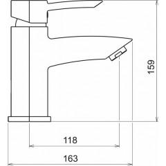 NOVASERVIS - Umyvadlová baterie s kovovou výpustí MODENA chrom 79001,0
