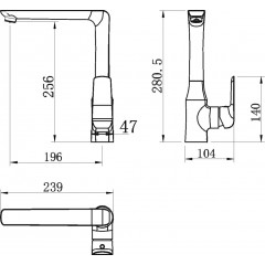 NOVASERVIS - Drezová stojanková batéria 38714,1