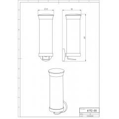 NOVASERVIS - Zásobník na kosmetické tampony sklo Metalia 1 chrom 6172,0