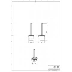 NOVASERVIS - WC štětka Metalia 2 chrom 6233,0