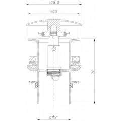 NOVASERVIS - Uzávěr výpusti LUXUS pro umyvadlo bez přepadu chrom 36,0