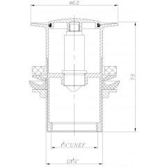 NOVASERVIS - Uzávěr výpusti LUXUS pro umyvadlo bez přepadu chrom 38,0