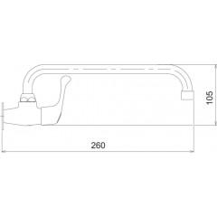 NOVASERVIS - Umyvadlová baterie na studenou vodu Titania Iris chrom 92008,0