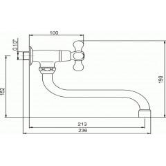 NOVASERVIS - Umyvadlová baterie na studenou vodu Retro II chrom 99107,0