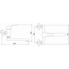 NOVASERVIS - Umyvadlová dřezová baterie 150 mm Titania Iris chrom 92076,0