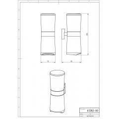 NOVASERVIS - Zásobník kosmetických tamponů a tyčinek Metalia 12 chrom 0282,0