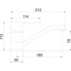 NOVASERVIS - Umývadlová drezová batéria Titania Fresh chróm 96096,0