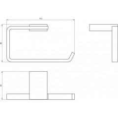 NOVASERVIS - Závěs toaletního papíru Metalia 9 chrom 0931,0