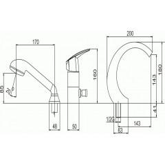 NOVASERVIS - Vanová baterie Metalia 56 chrom 50049,0