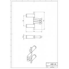 NOVASERVIS - Trojháček otočný Metalia 2 chrom 6281,0