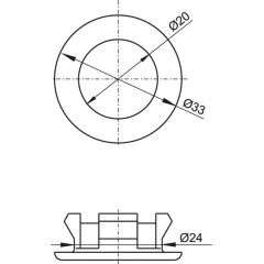 Rozetka - kroužek krytka přepadu umyvadla chrom 20x33mm ALCAPLAST A22 A22