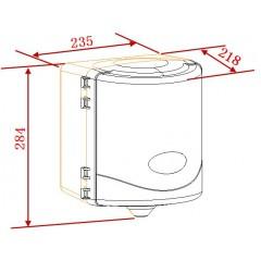 NOVASERVIS - Zásobník na papierové utierky so stredovým odvíjaním, biely 69093,1