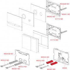 Alcaplast ovládací deska Flat STING kov-mat/lesk STING