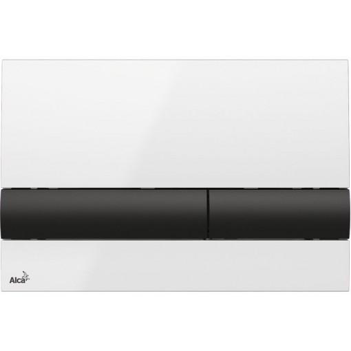 Alcaplast ovládací deska M1710-8 bílá/černá M1710-8