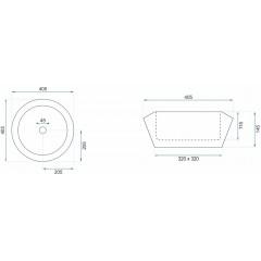 REA - Umývadlo na dosku Chic 40,5x40,5 čierna (REA-U8600)