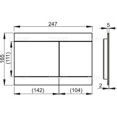 Alcaplast Ovládací tlačítko pro předstěnové instalační systémy, nerez-polomat FUN-INOX