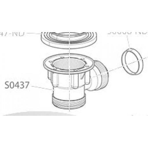 Alcaplast S437 spodní díl vpustě vanového sifonu A503-4KM S437