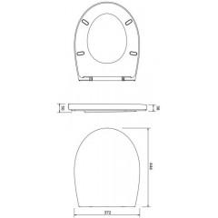 ALCAPLAST Sádromodul - predstenový inštalačný systém s bielym tlačidlom M1710 + WC CERSANIT ARES + SEDADLO AM101/1120 M1710 AR1