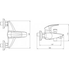 NOVASERVIS - Vaňová batéria 150 mm Metalia 57 REEF GOLD 57020/1,65
