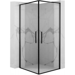 REA - Otváracie sprchovací kút Abre Matte 80x100 čierna (REA-K5503)