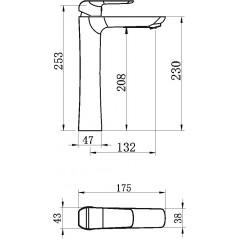 NOVASERVIS - Umývadlová batéria bez odpadovej súpravy čierna 38501/1,5
