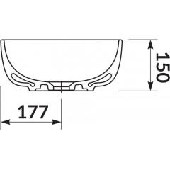 CERSANIT - MODUO 50 OVAL BOX OVÁLNÉ UMYVADLO K116-049