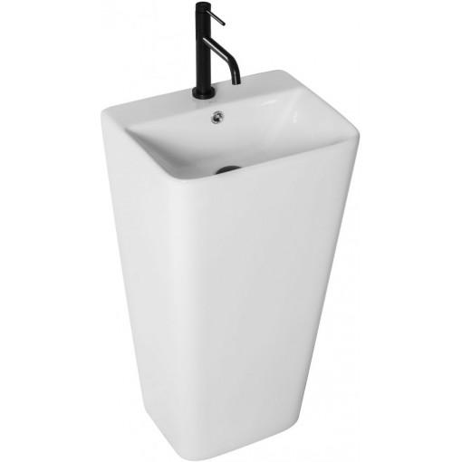 REA - Voľne stojace keramické umývadlo Aris 44x37,5 biele REA-U5637