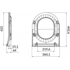 ALCAPLAST Sádromodul - predstenový inštalačný systém s bielym tlačidlom M1710 + WC CERSANIT ZEN CLEANON + SEDADLO AM101/1120 M1710 HA1