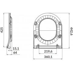 ALCAPLAST Renovmodul - predstenový inštalačný systém s chrómovým tlačidlom M1721 + WC CERSANIT ZEN CLEANON + SEDADLO AM115/1000 M1721 HA1