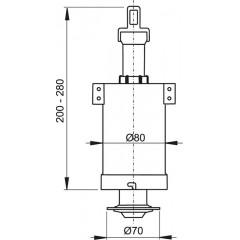 ALCAPLAST - Vypouštěcí ventil A-03A pro vysoko položenou nádržku Alca A03A