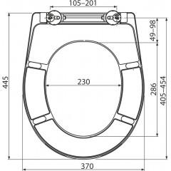 Alcaplast WC sedátko A604 bílé Duroplast se zpomalením softclose A604 A604