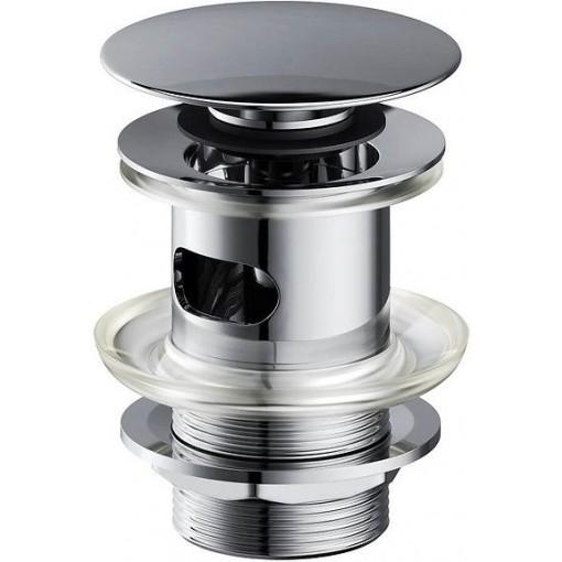 CERSANIT - Kovová zátka klik-klak pro umyvadla s přepadem, chrom S951-125