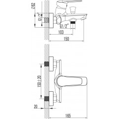 NOVASERVIS - Vaňová batéria Dijon chróm 81020/1,0