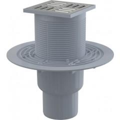 Alcaplast Podlahová vpust 105 × 105/50/75 přímá, mřížka nerez,SMART APV2321