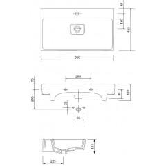 CERSANIT - Nábytkové umývadlo VIRGO 80 BOX K118-002