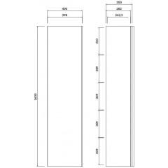 CERSANIT - Nábytkový stĺpik VIRGO biely s chrómovou úchytkou S522-032