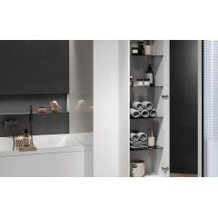 CERSANIT - Nábytkový stĺpik VIRGO šedý dub s čiernou úchytkou S522-035