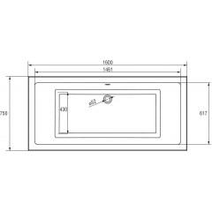 CERSANIT - VAŇA INTRO 160X75 cm S301-067