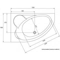 CERSANIT - VAŇA KALIOPE PRAVÁ 153X100 cm S301-025