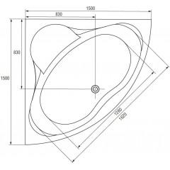 CERSANIT - VAŇA VENUS 150X150 cm (S301-013)
